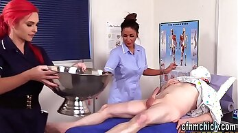 BDSM in HQ, cfnm porn, cock sucking, dick sucking, hot babes, nurse humping
